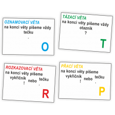 Druhy vět - podložky
